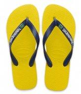 Havaianas Kids Flipflops Brasil Layers Citrus Yellow (2197)
