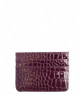HVISK Card Holder Croco Maroon (106)